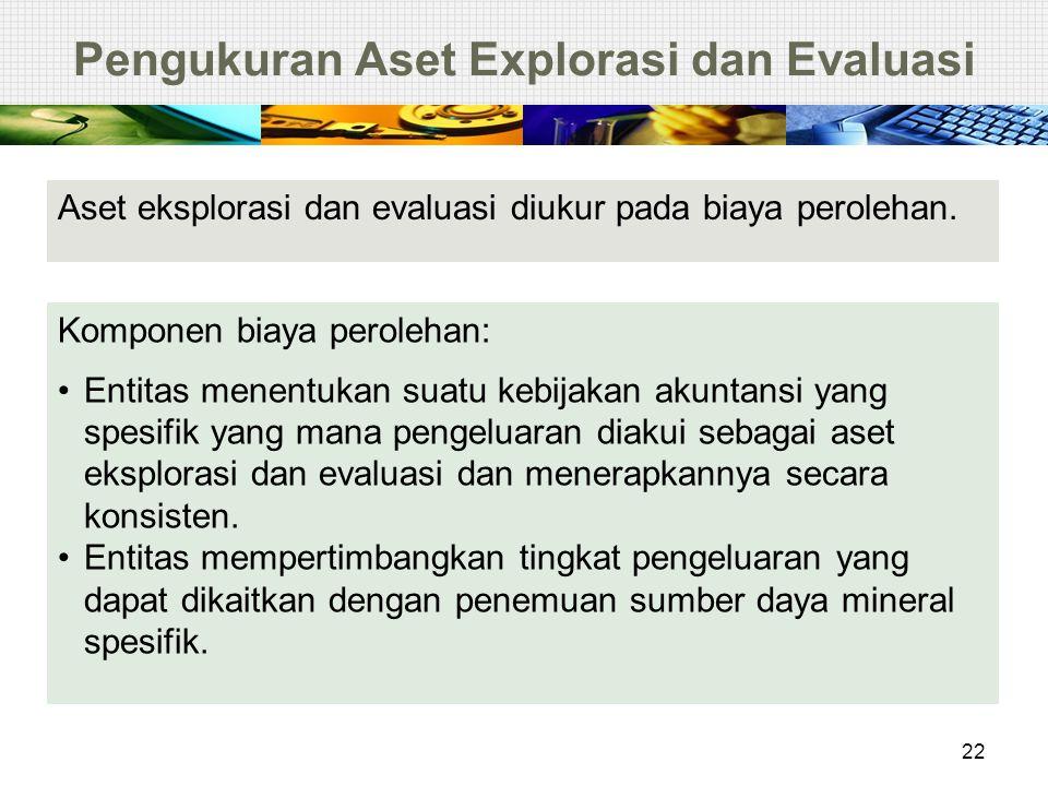 Pengukuran Aset Explorasi dan Evaluasi