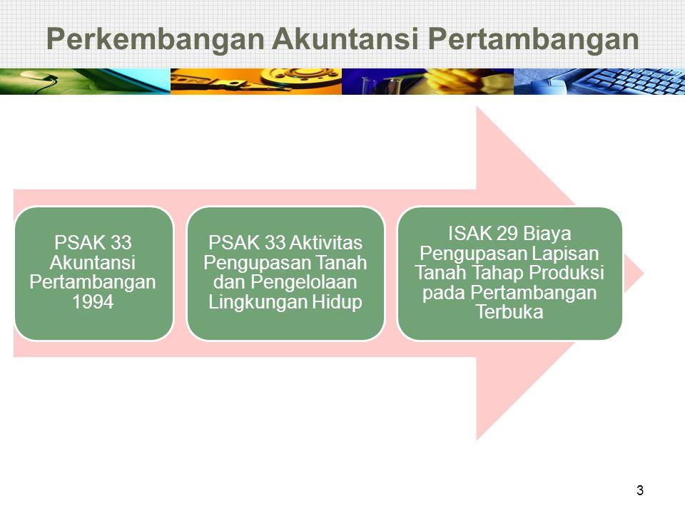 Perkembangan Akuntansi Pertambangan