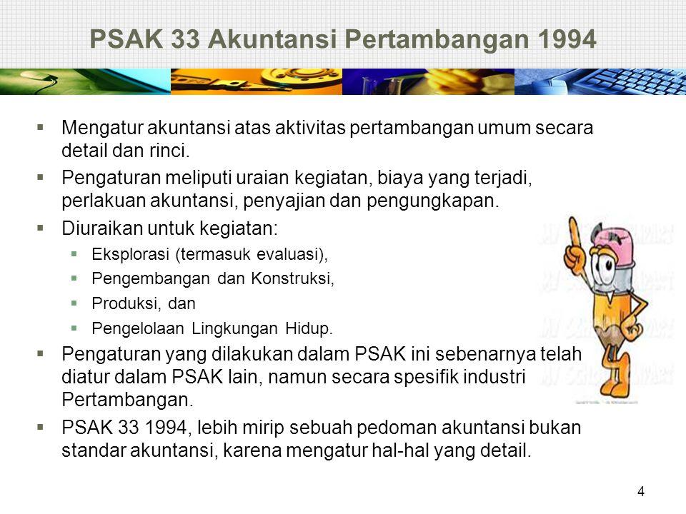 PSAK 33 Akuntansi Pertambangan 1994