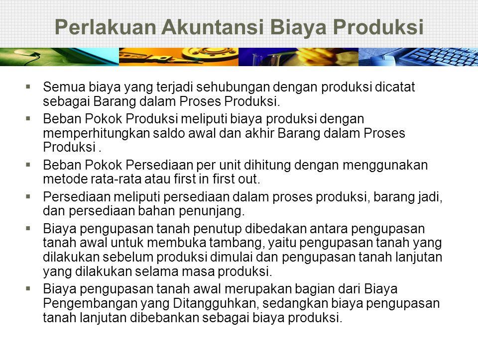 Perlakuan Akuntansi Biaya Produksi