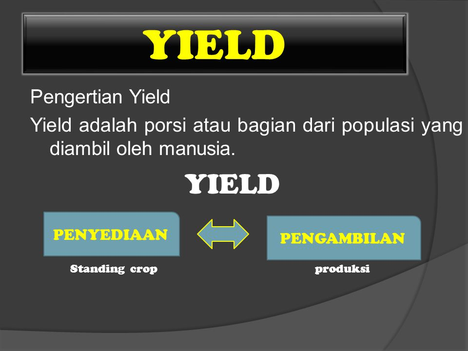 YIELD Pengertian Yield