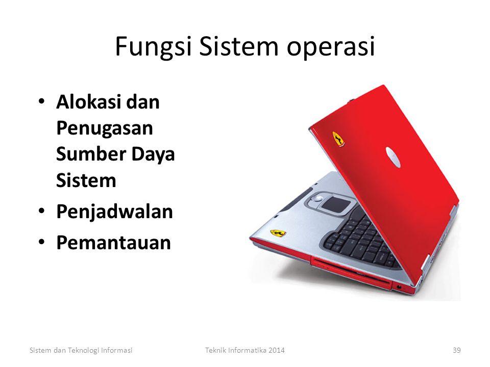 Fungsi Sistem operasi Alokasi dan Penugasan Sumber Daya Sistem