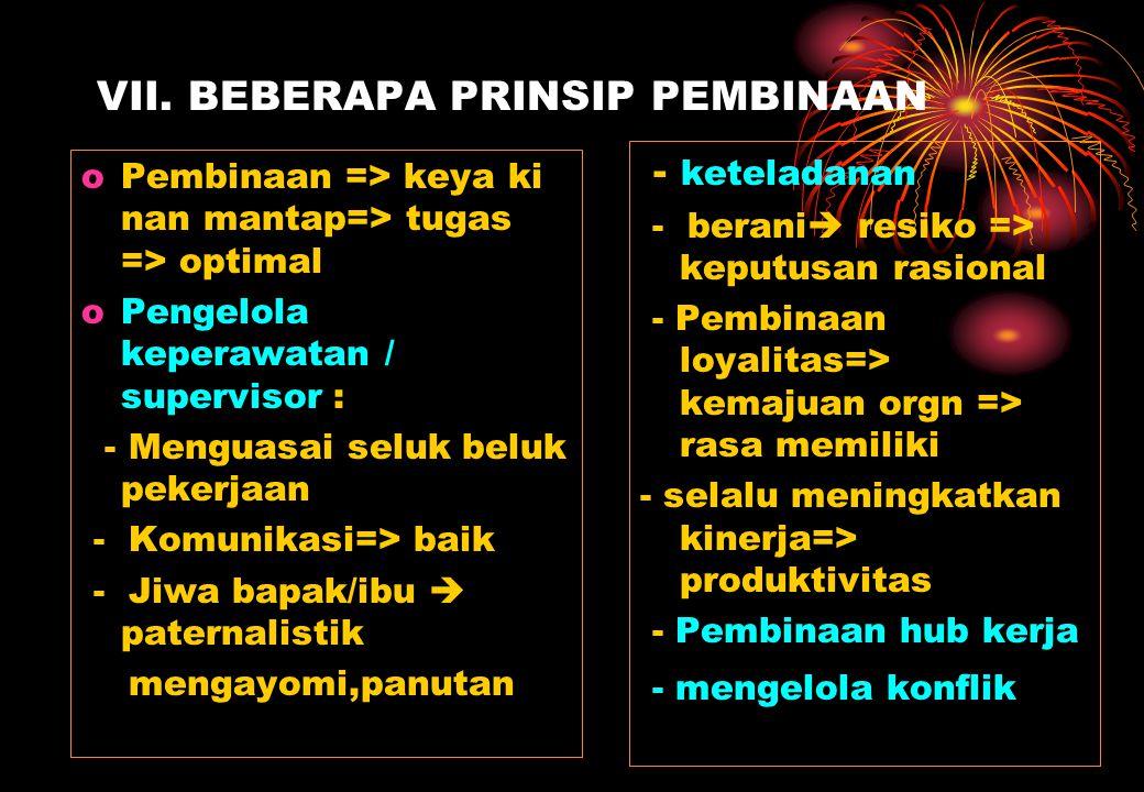 VII. BEBERAPA PRINSIP PEMBINAAN