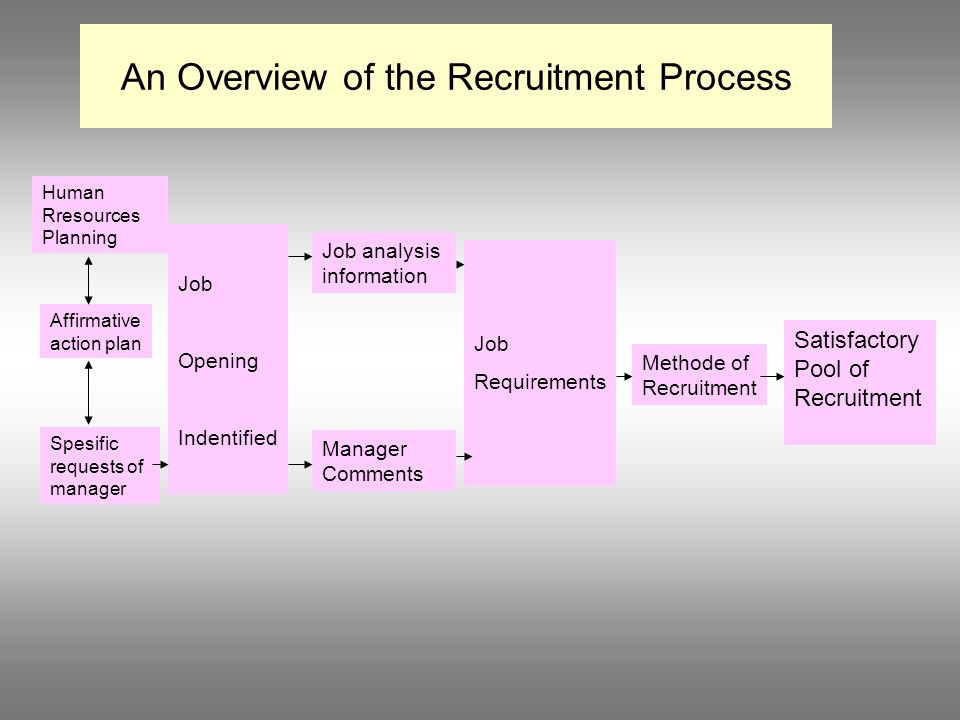 An Overview of the Recruitment Process