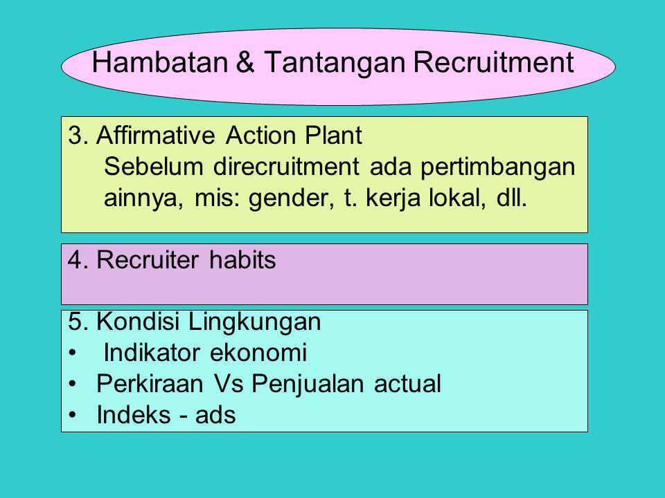 Hambatan & Tantangan Recruitment