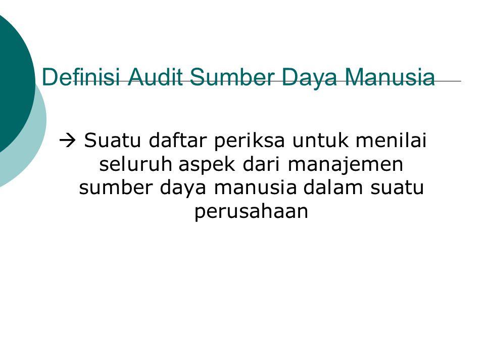 Definisi Audit Sumber Daya Manusia