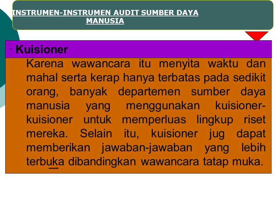INSTRUMEN-INSTRUMEN AUDIT SUMBER DAYA MANUSIA
