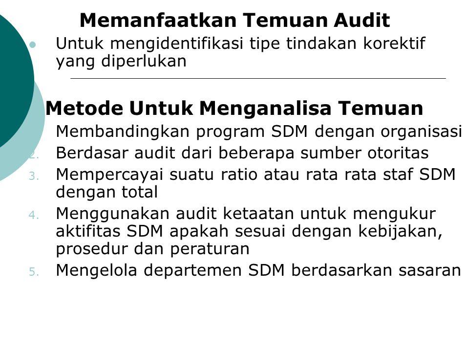 Memanfaatkan Temuan Audit Metode Untuk Menganalisa Temuan