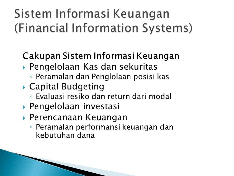 Sistem Informasi Keuangan (Financial Information Systems)