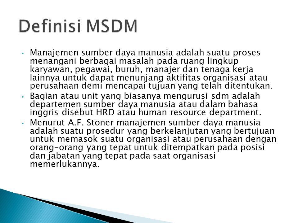Definisi MSDM