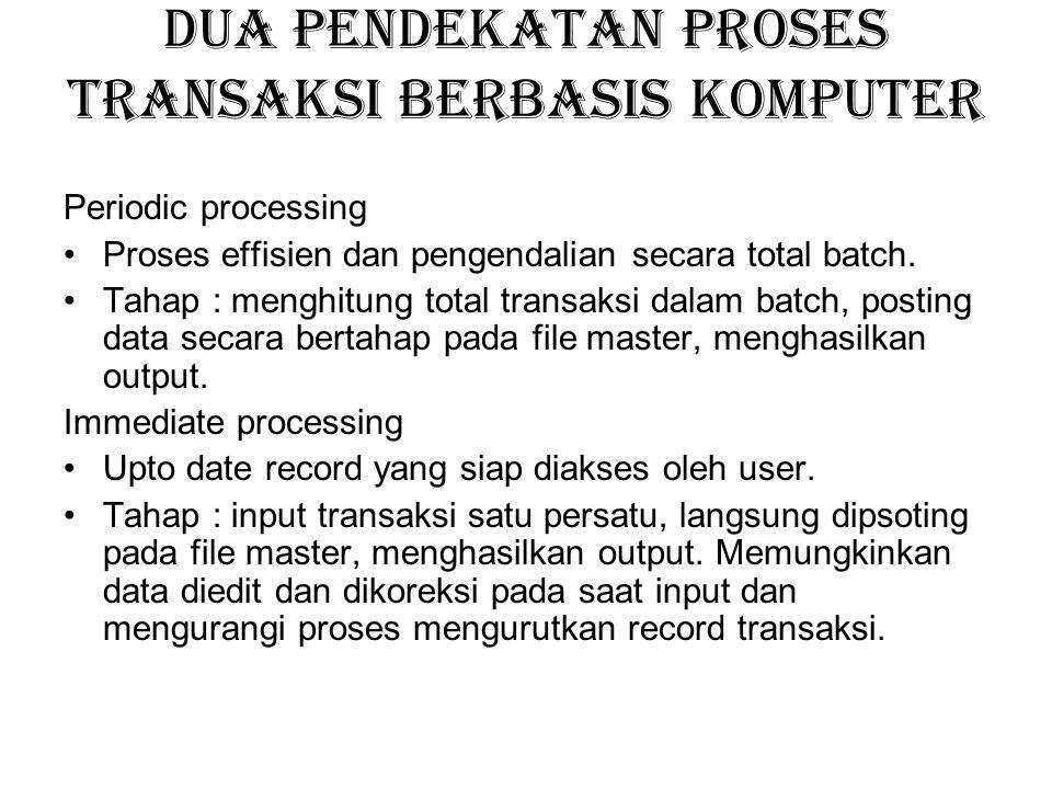 Dua pendekatan proses transaksi berbasis komputer