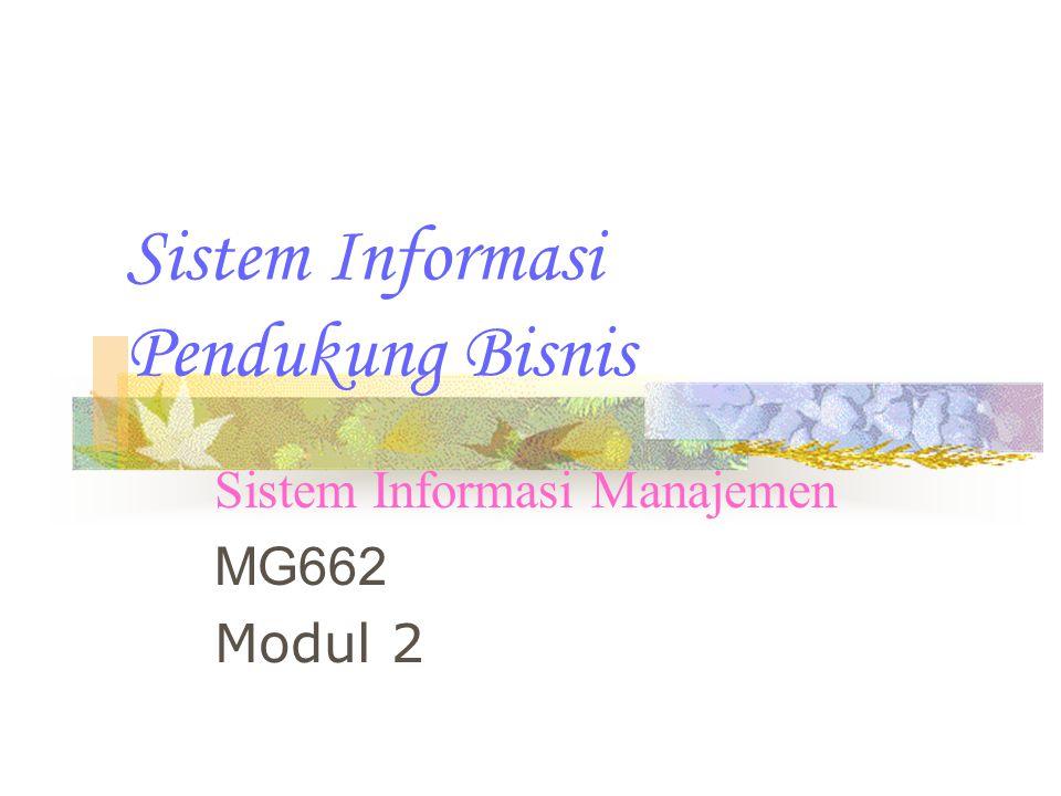 Sistem Informasi Pendukung Bisnis
