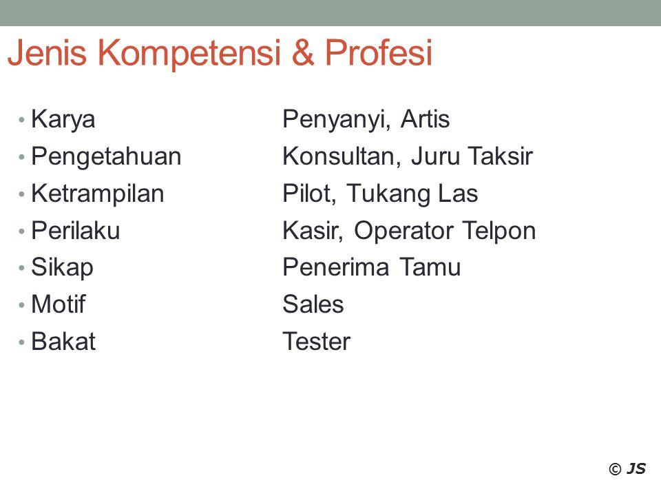 Jenis Kompetensi & Profesi