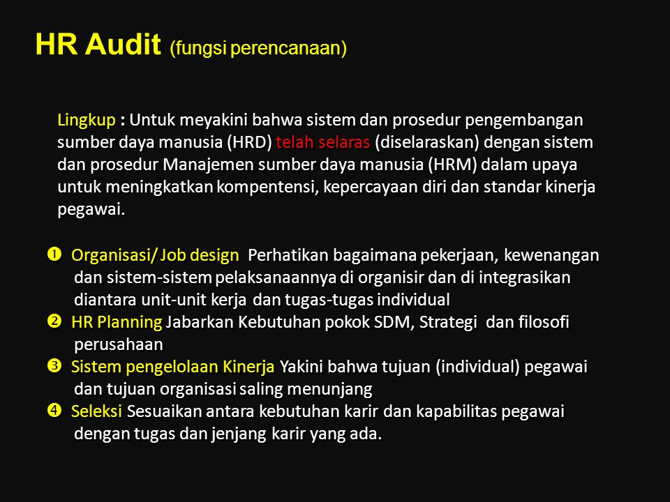 HR Audit (fungsi perencanaan)
