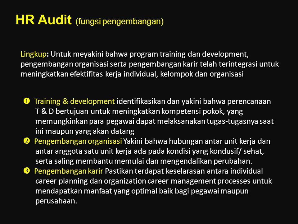 HR Audit (fungsi pengembangan)