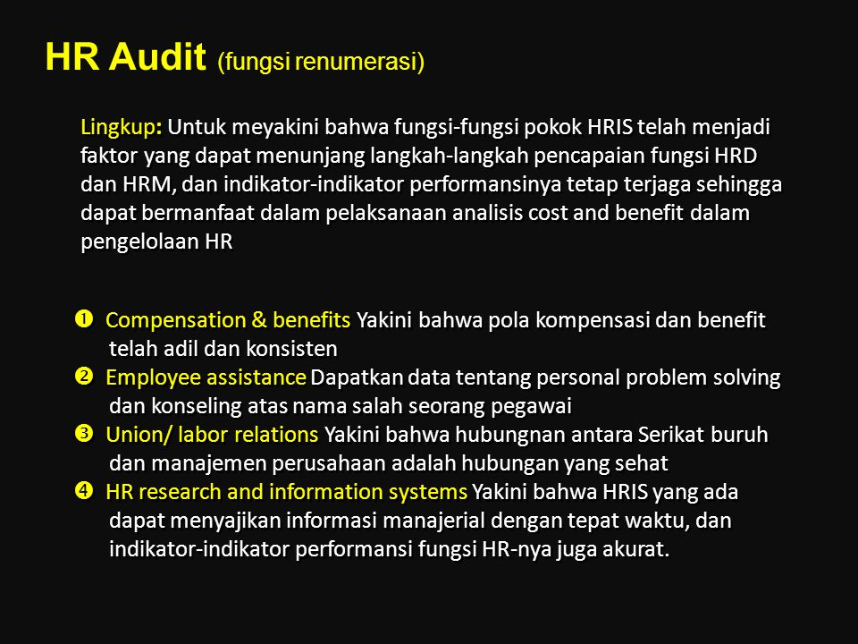 HR Audit (fungsi renumerasi)