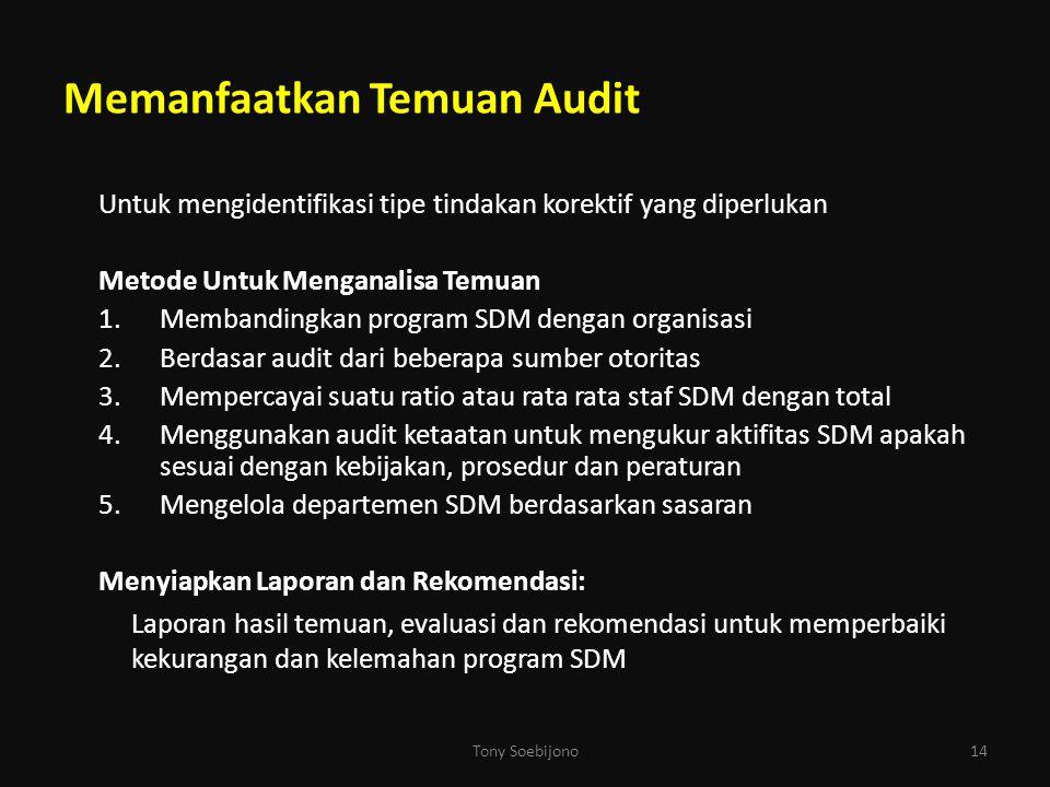 Memanfaatkan Temuan Audit
