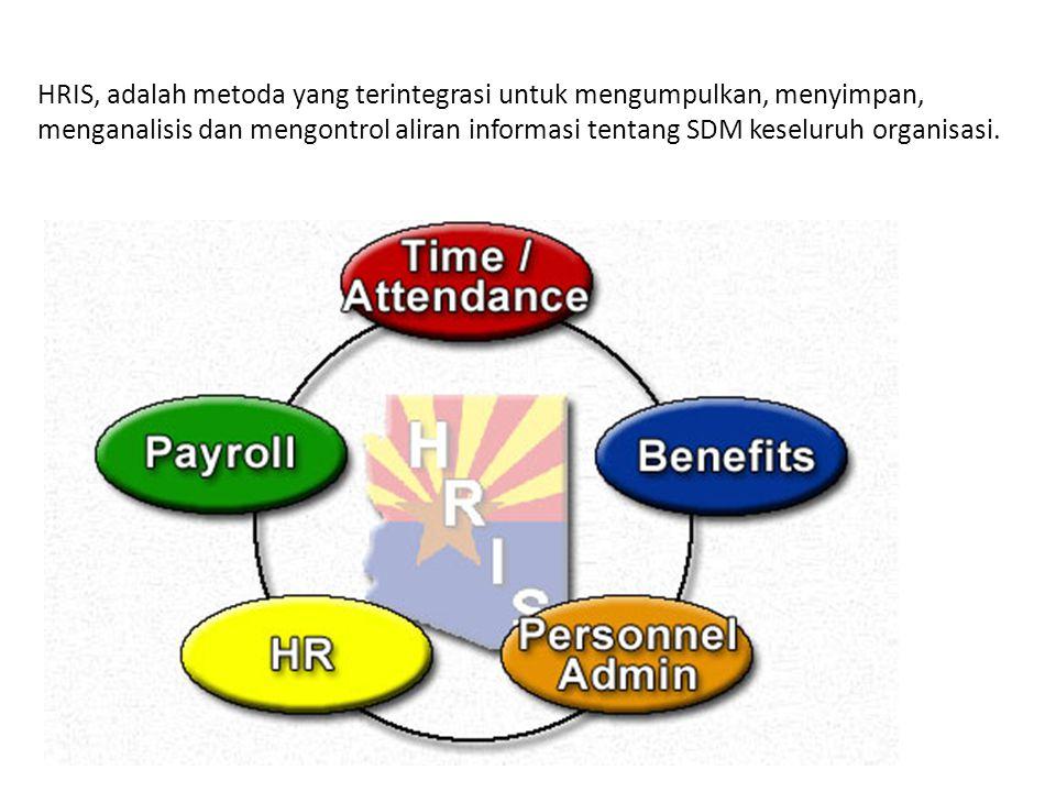 HRIS, adalah metoda yang terintegrasi untuk mengumpulkan, menyimpan, menganalisis dan mengontrol aliran informasi tentang SDM keseluruh organisasi.