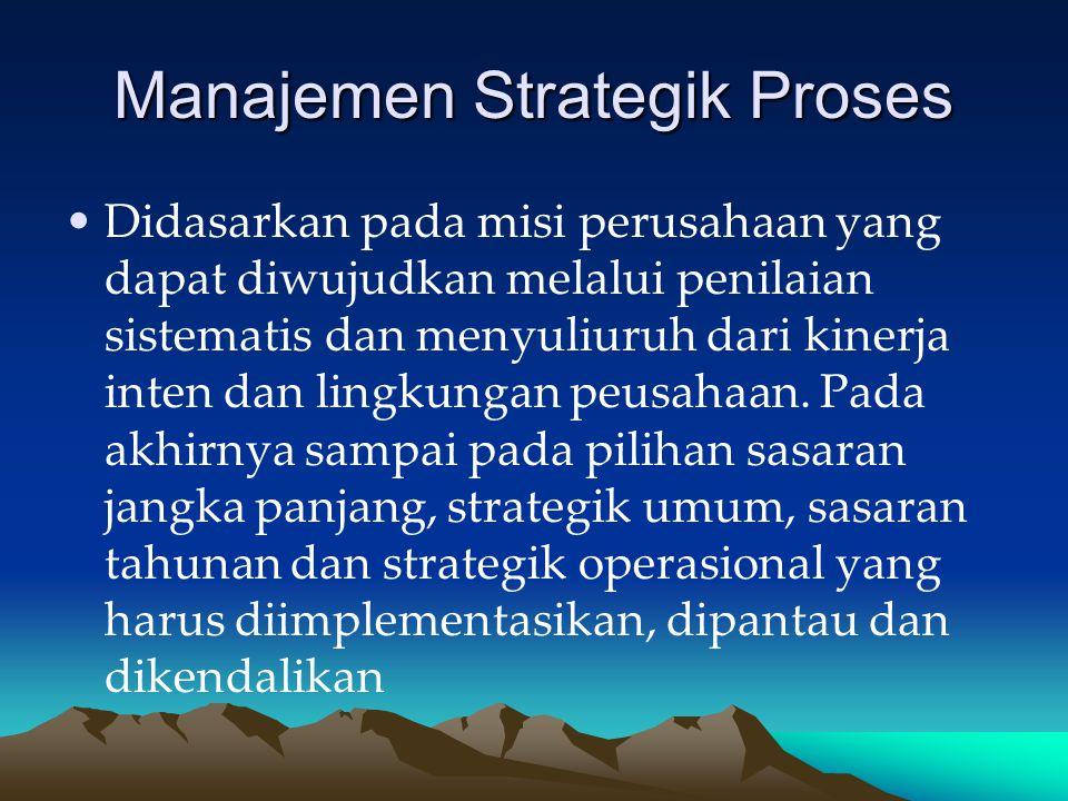 Manajemen Strategik Proses