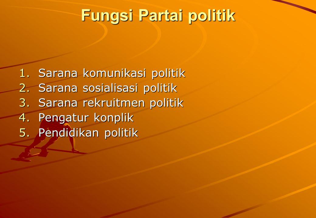 Fungsi Partai politik Sarana komunikasi politik