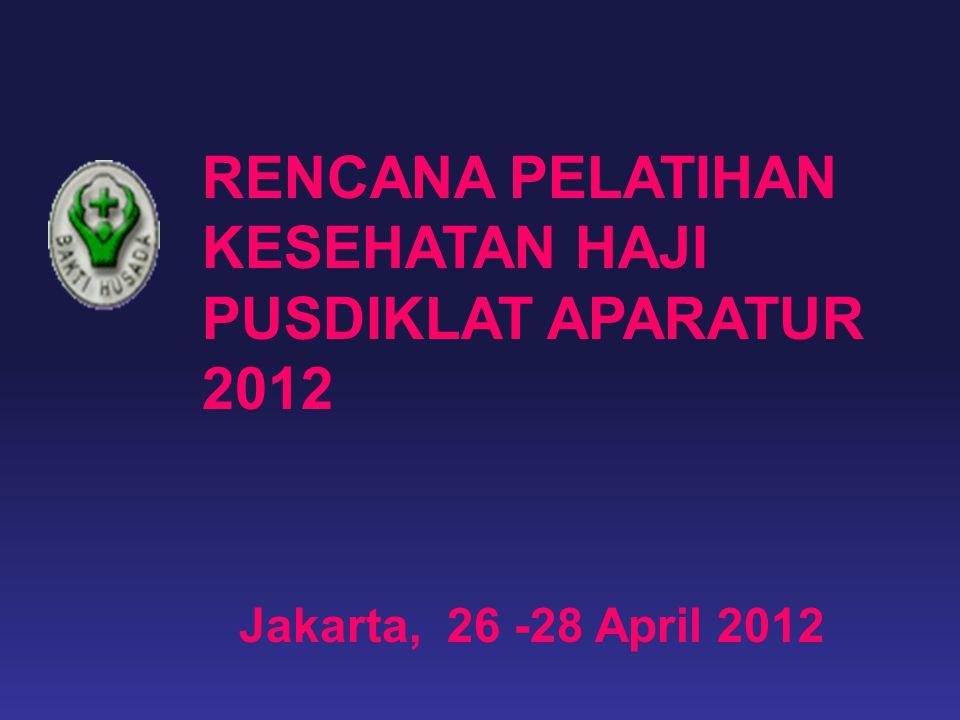 RENCANA PELATIHAN KESEHATAN HAJI PUSDIKLAT APARATUR 2012