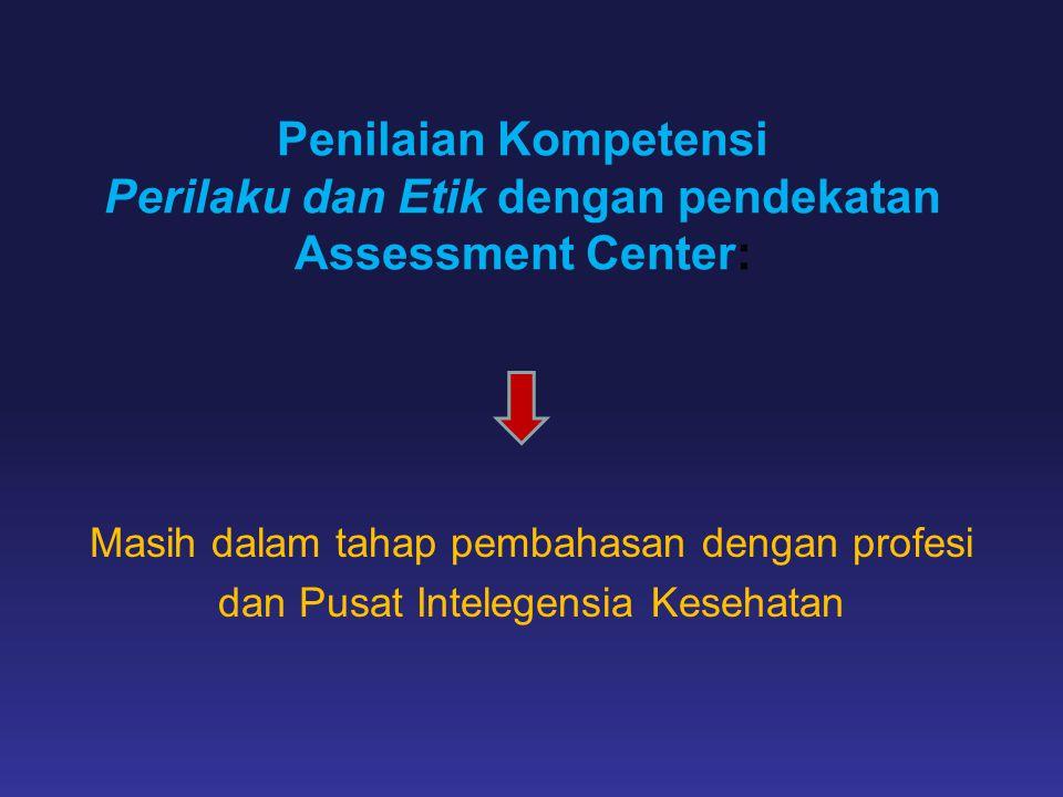 Penilaian Kompetensi Perilaku dan Etik dengan pendekatan Assessment Center:
