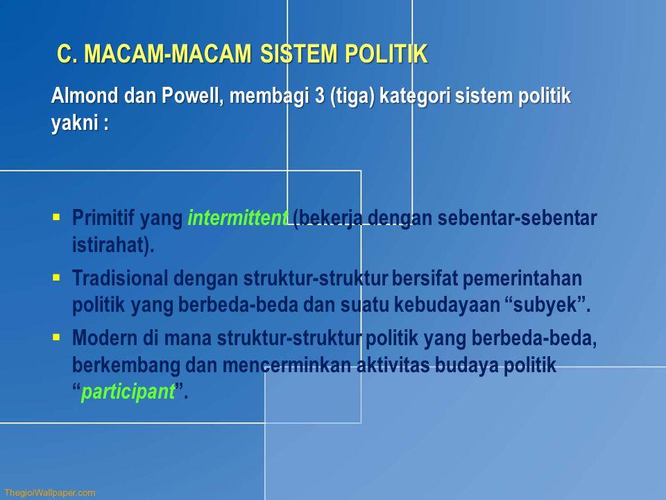 C. MACAM-MACAM SISTEM POLITIK