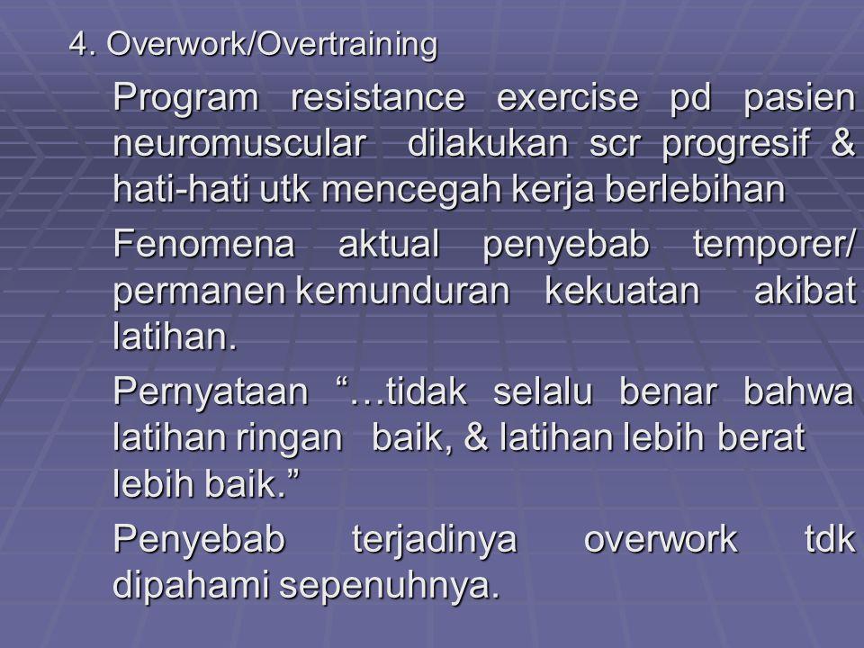 Penyebab terjadinya overwork tdk dipahami sepenuhnya.