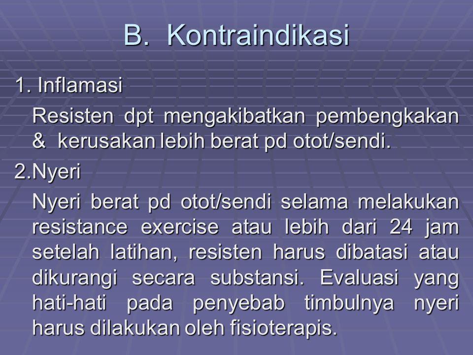 B. Kontraindikasi 1. Inflamasi