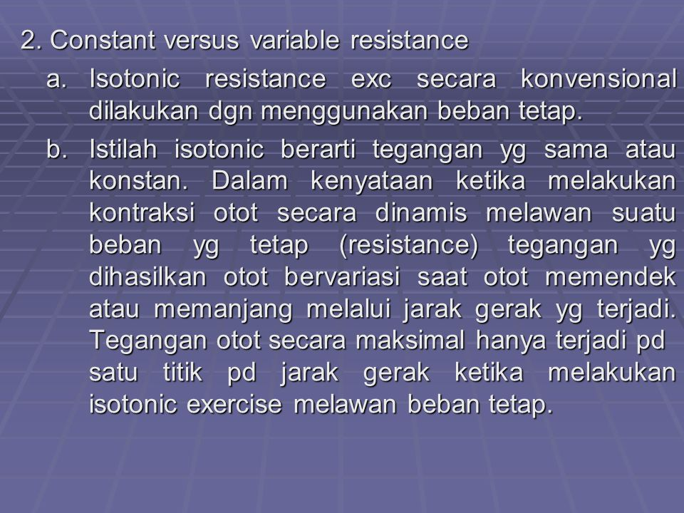 2. Constant versus variable resistance
