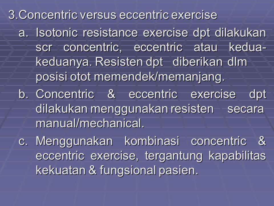 3. Concentric versus eccentric exercise