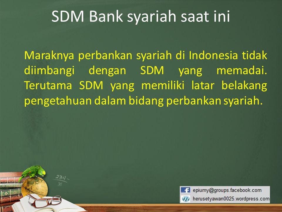 SDM Bank syariah saat ini