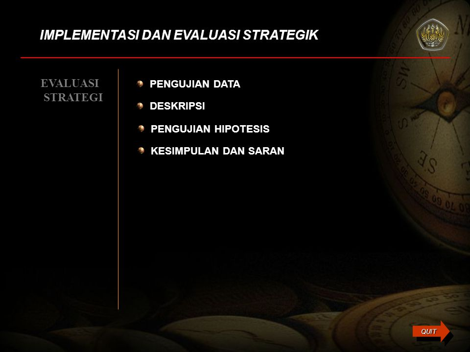 IMPLEMENTASI DAN EVALUASI STRATEGIK