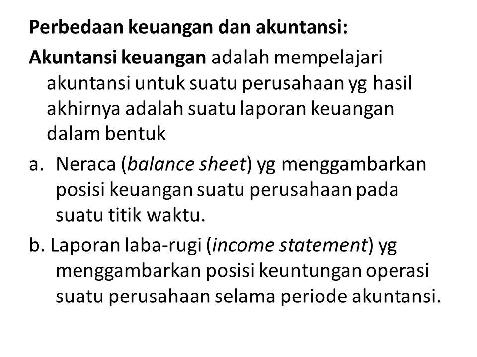 Perbedaan keuangan dan akuntansi: