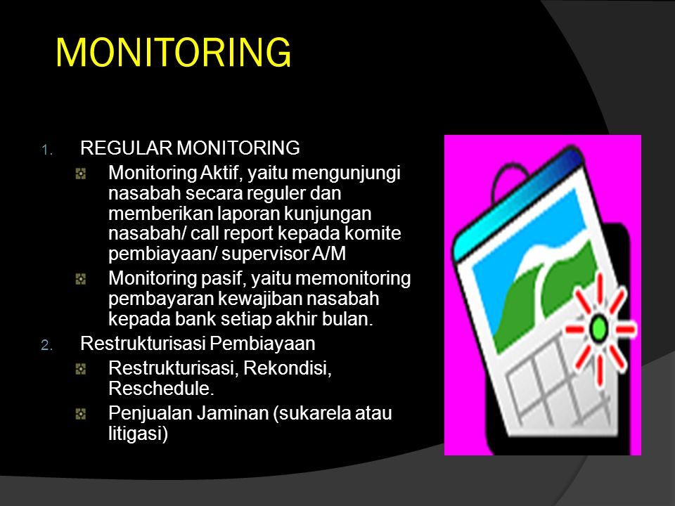MONITORING REGULAR MONITORING