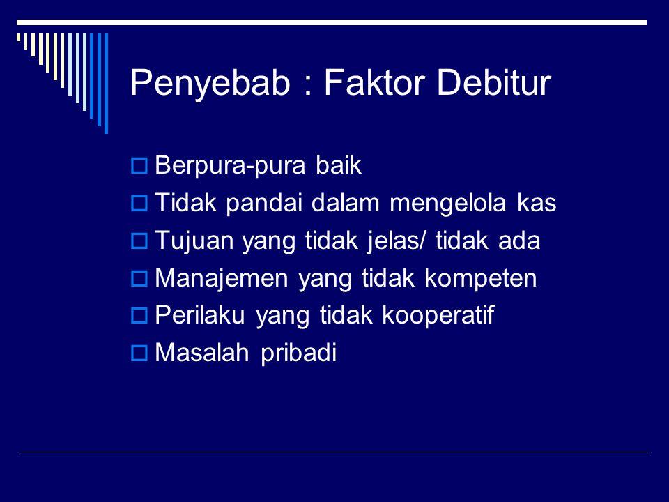 Penyebab : Faktor Debitur
