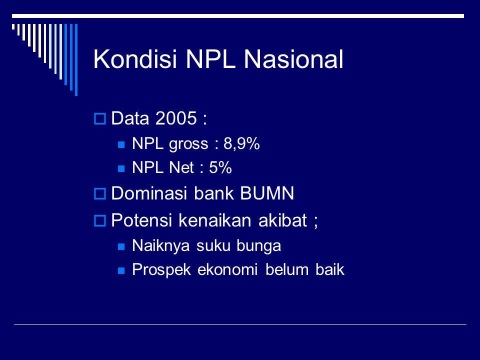 Kondisi NPL Nasional Data 2005 : Dominasi bank BUMN