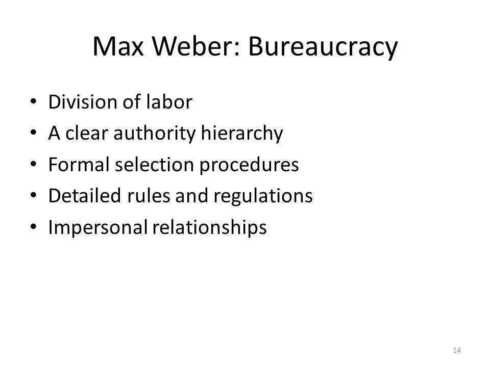 Max Weber: Bureaucracy