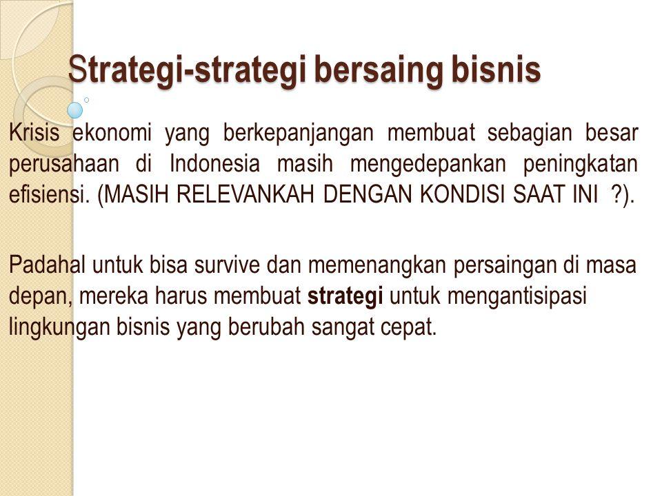 Strategi-strategi bersaing bisnis