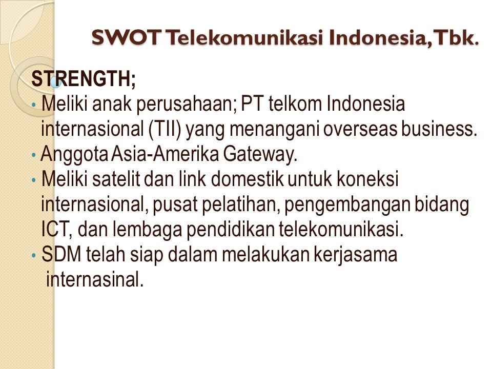 SWOT Telekomunikasi Indonesia, Tbk.