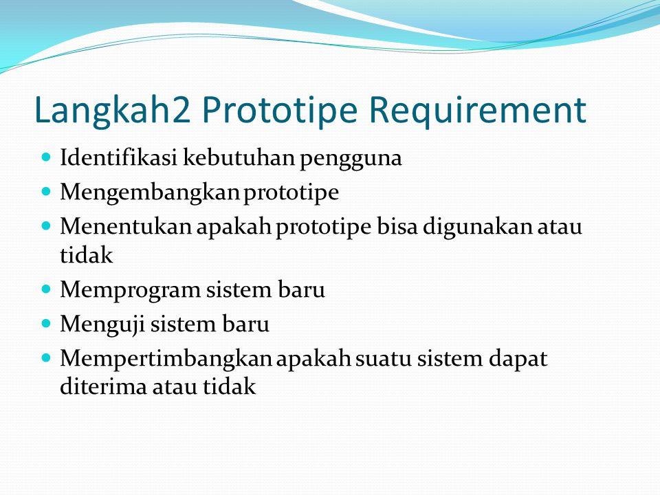 Langkah2 Prototipe Requirement