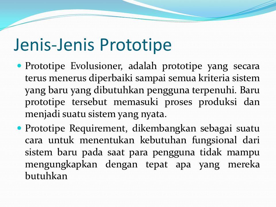 Jenis-Jenis Prototipe