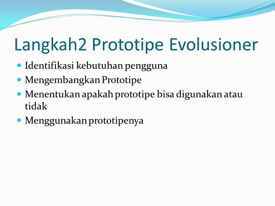 Langkah2 Prototipe Evolusioner