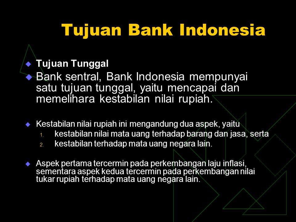 Tujuan Bank Indonesia Tujuan Tunggal.