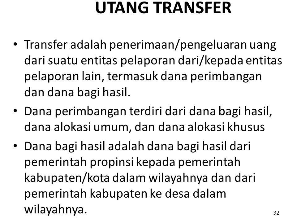 UTANG TRANSFER