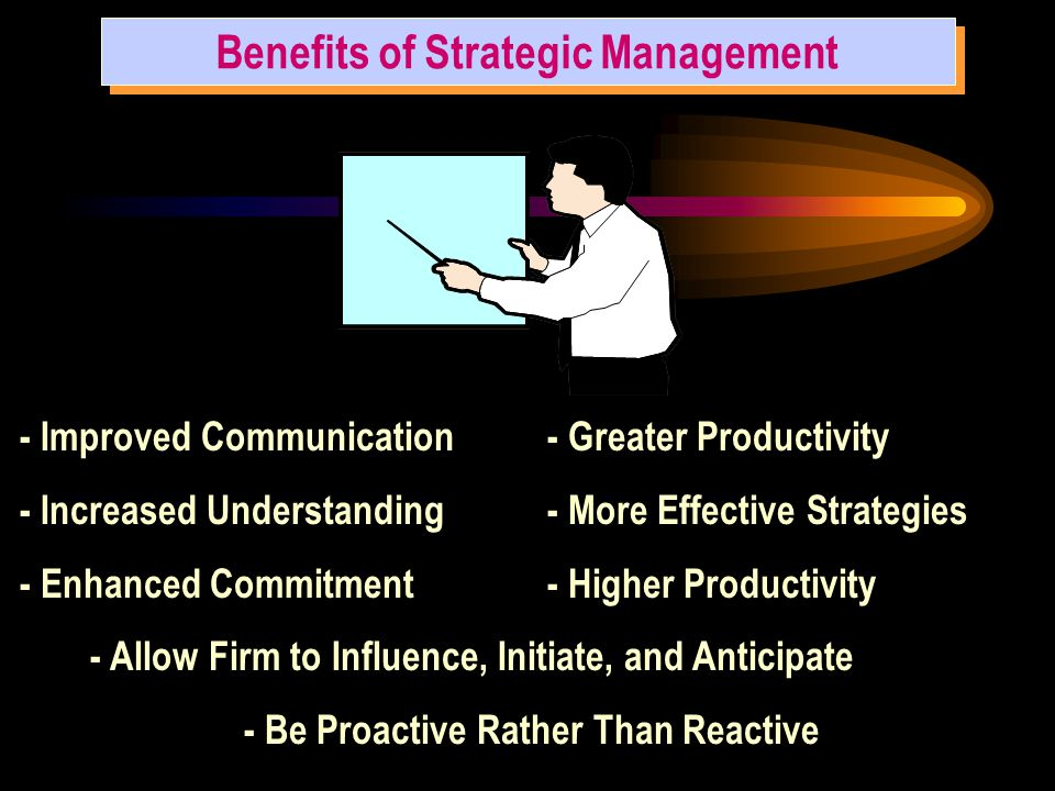 Benefits of Strategic Management - Be Proactive Rather Than Reactive