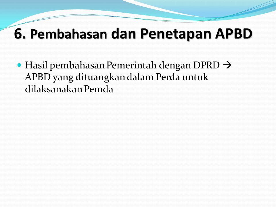 6. Pembahasan dan Penetapan APBD