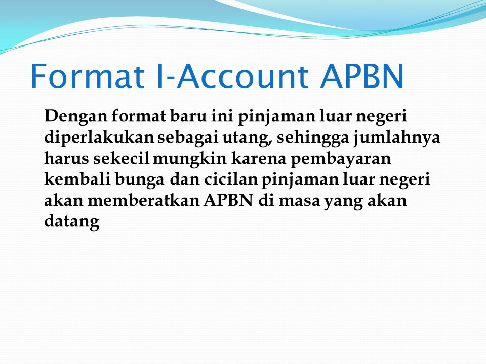 Format I-Account APBN
