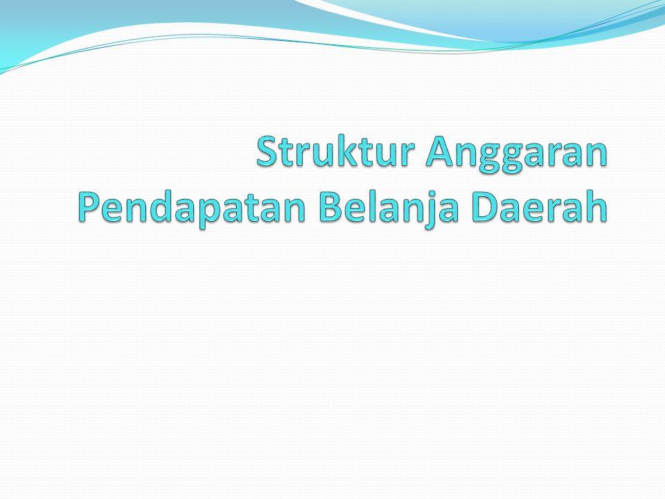 Struktur Anggaran Pendapatan Belanja Daerah