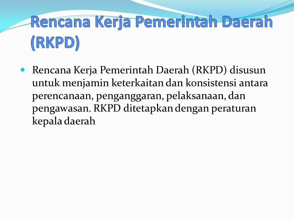 Rencana Kerja Pemerintah Daerah (RKPD)